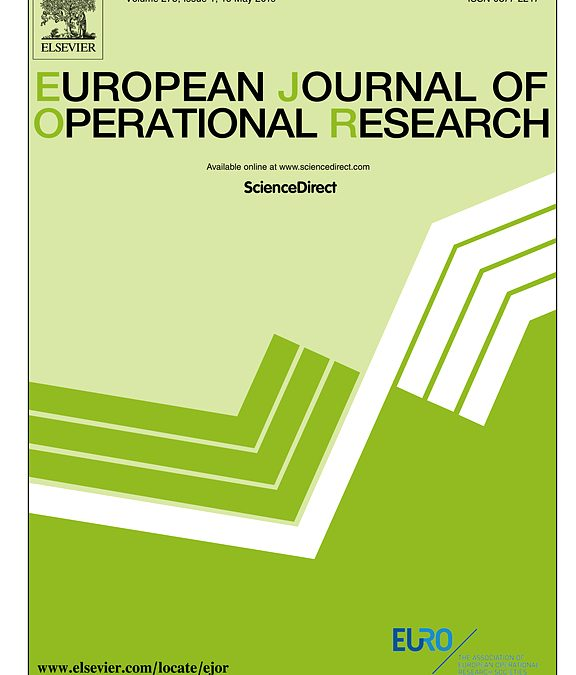 Newest article accepted for publication in European Journal of Operational Research
