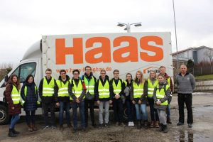 Zu Besuch bei Unternehmen UPM und Haas Fertigbau