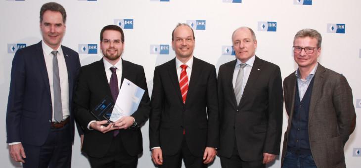 Verleihung des IHK-Preises für die Masterarbeit von Michael Schneider
