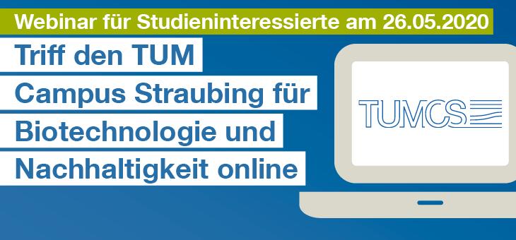 Studieren in Straubing: Webinar für Interessierte