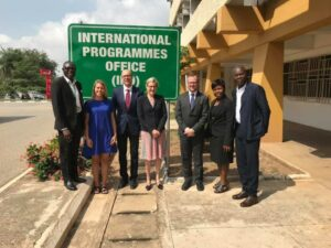 Visit by a TUM delegation led by Senior Vice President Prof. Winkelmann and Prof. Fröhling to KNUST to advance the strategic partnership for innovation and sustainable development. © Foto: Dr. Harald Olk