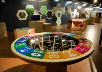 """Installation mit neuronalem Netz """"Die Welt im Gleichgewicht"""""""
