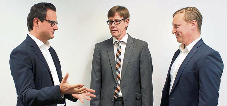 V.l.n.r.: Dr. Paul Lampert, Prof. Dr. Klaus Menrad und Dr. Andreas Gabriel.