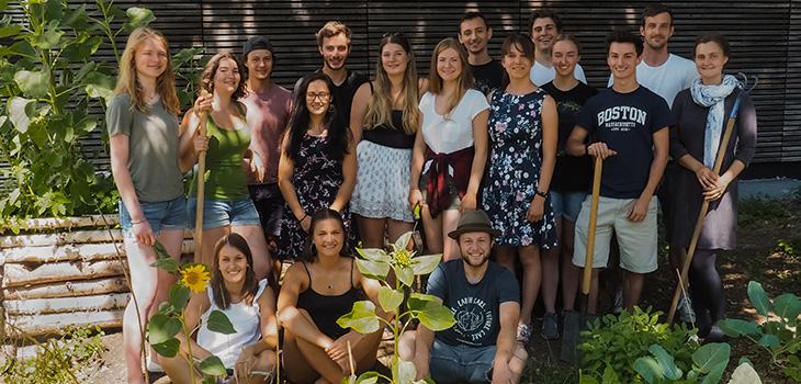 Gruppenfoto Unigarten